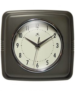 Square Retro Slate Resin Wall Clock
