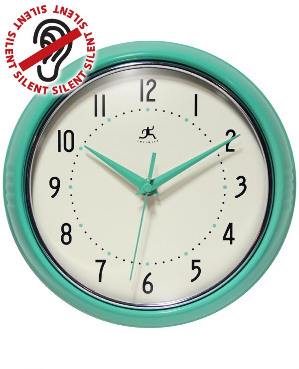green turquoise green wall clock