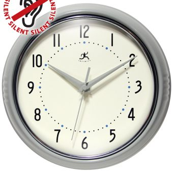 9.5 Inch Retro Grey Aluminum Wall Clock