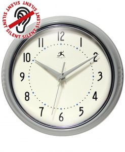 Gray Round Retro Wall Clock kitchen