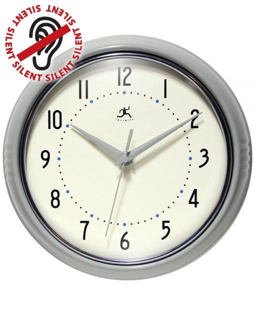 Gray Round Retro Wall Clock kitchen