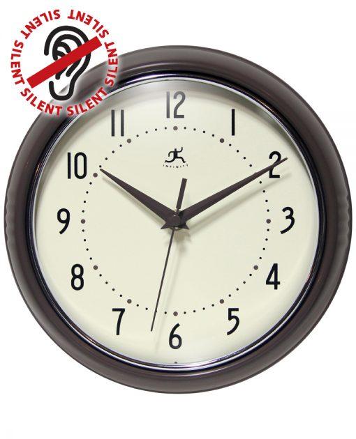 9.5 Inch Slate Iron Aluminum Wall Clock retro circle round