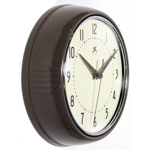 Slate Iron Aluminum Wall Clock retro circle round