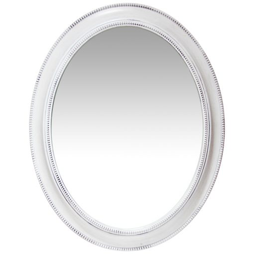 front of sonore white aged wall mirror 30 inch