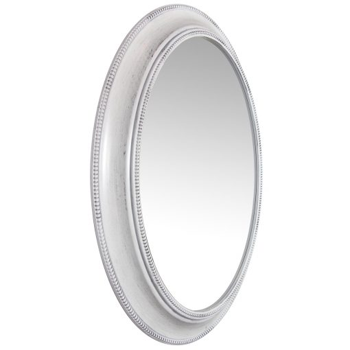 right side of sonore white aged wall mirror 30 inch decorative oval wall mirror