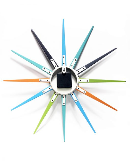 back of stellar multi color wall clock 20 inch decorative modern