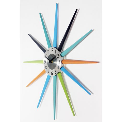 from left side stellar multi color wall clock 20 inch