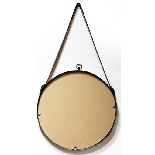 back of farmhouse circle brass round wall mirror 29 inch