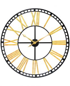tower xxl extra large wall clock oversized 39 inch black and gold