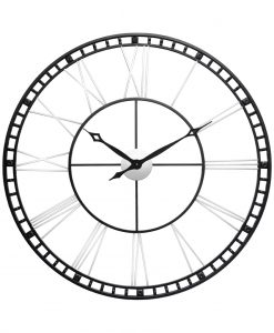 front of black and silver wall clock 39 inch wall clock extra large