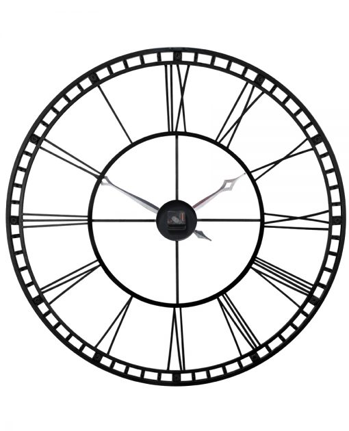 back of tower xxl black and silver large extra oversized wall clock 39 inch