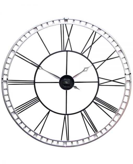 back view tower xxl black wall clock 39 inch extra large
