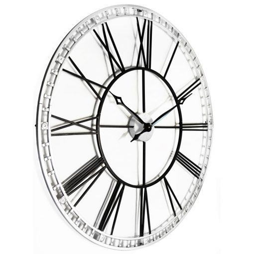 view from right of tower xxl black wall clock 39 inch large extra
