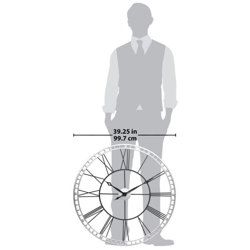 for scale tower xxl wall clock 39 inch black