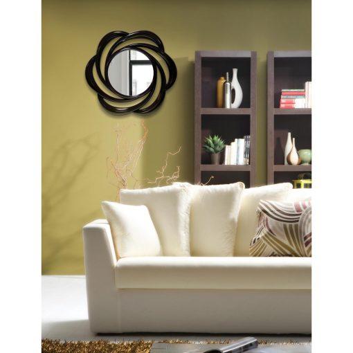 black wirral 24 inch round wall mirror environmental