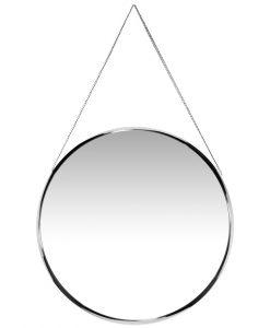 franc silver round wall mirror 17 inch