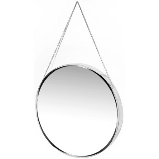 view from left franc silver wall mirror 17 inch round