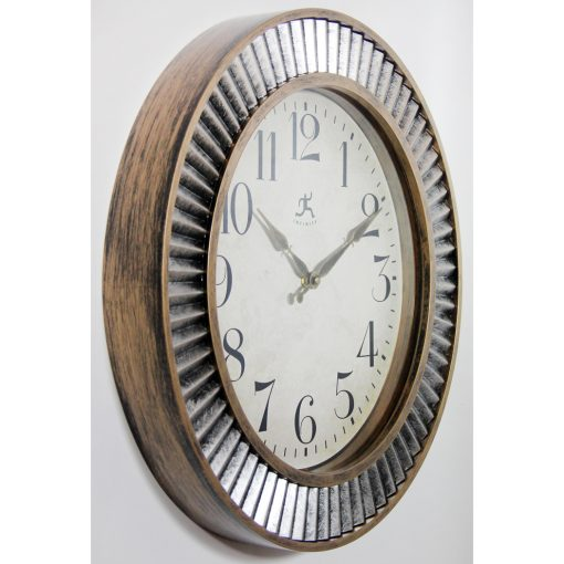 from right side ruche aged gold silver wall clock 16 inch
