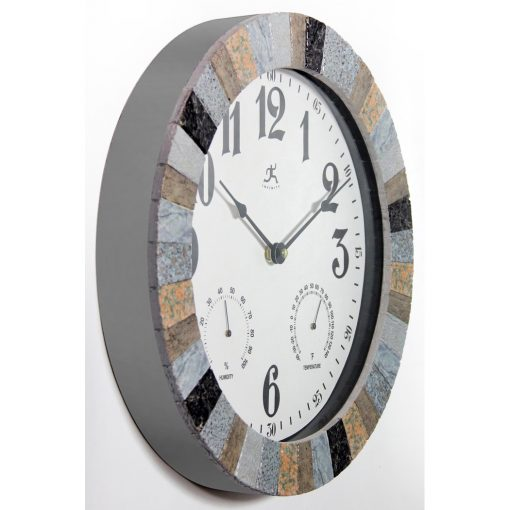 temperature thermometer wall clock from right side 14 inch