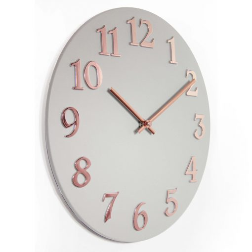 right side view of vogue wall clock 12 inch