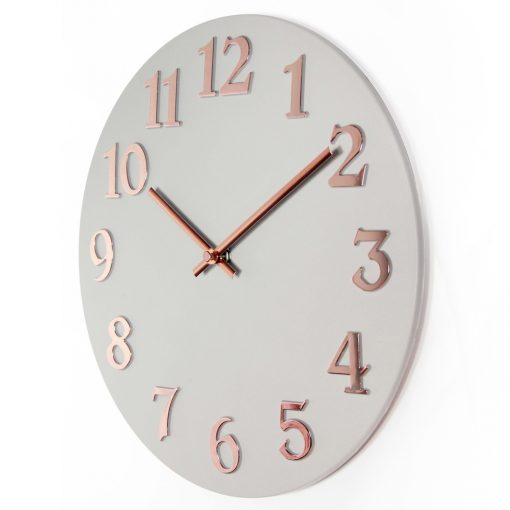 vogue rose gray front wall clock girls room cheap wall clock 12 inch