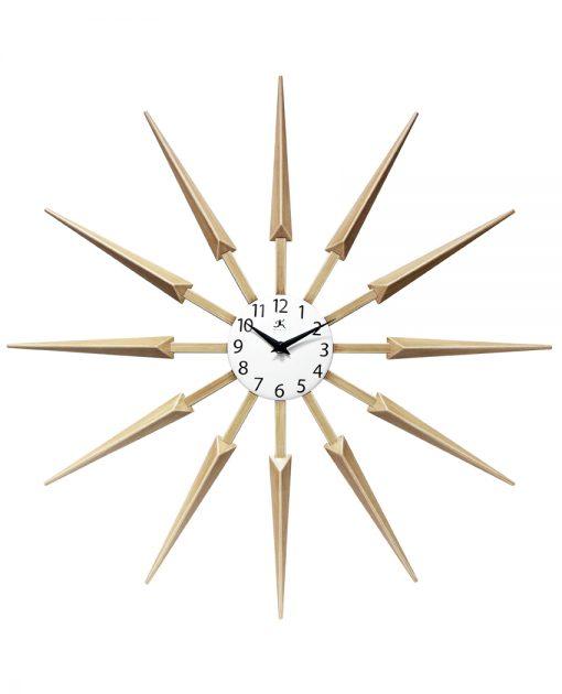 front celeste tan wooden wall clock modern 24 inch