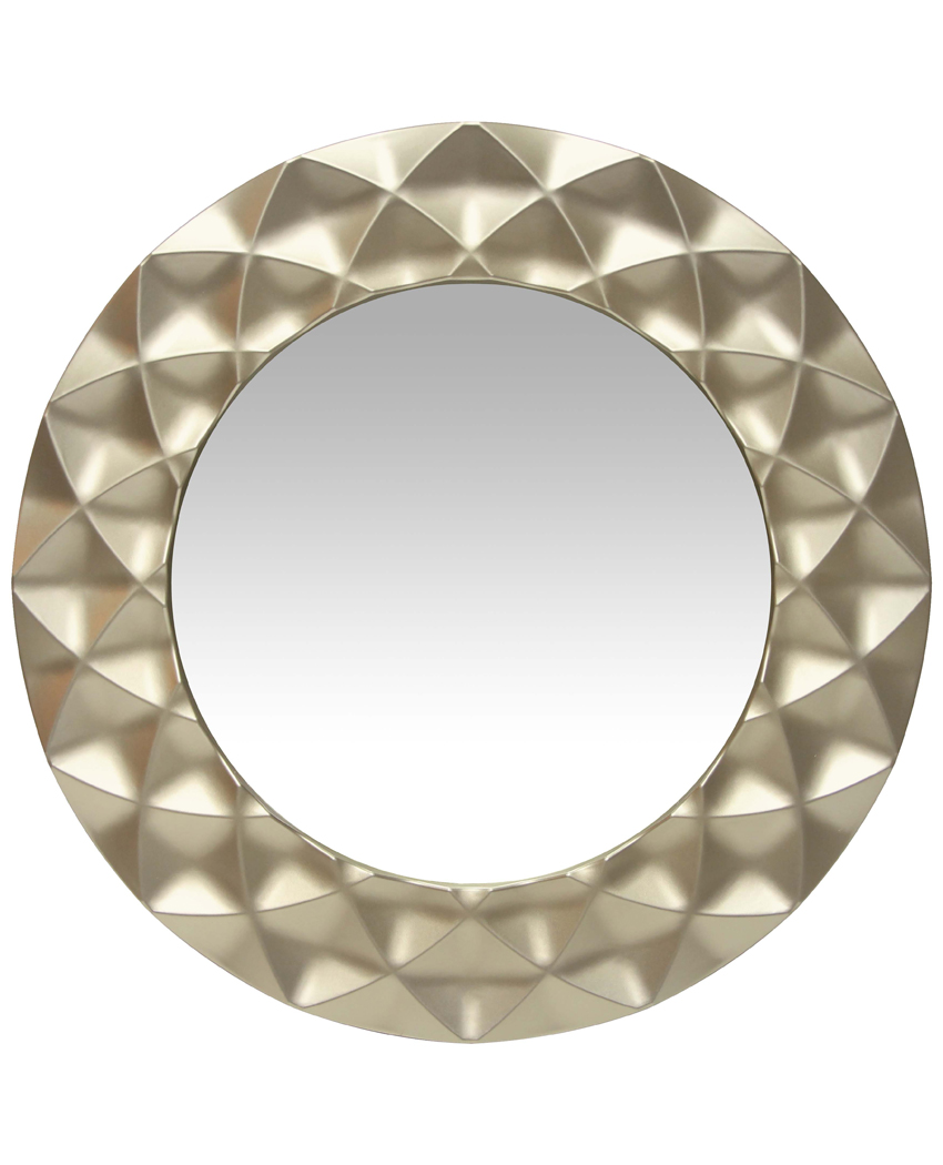 Glam Silver Decorative Wall Mirror 18 In