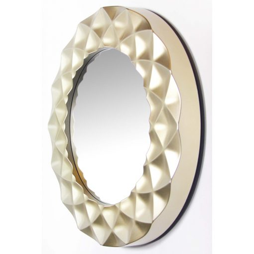 left view of circular decorative wall mirror
