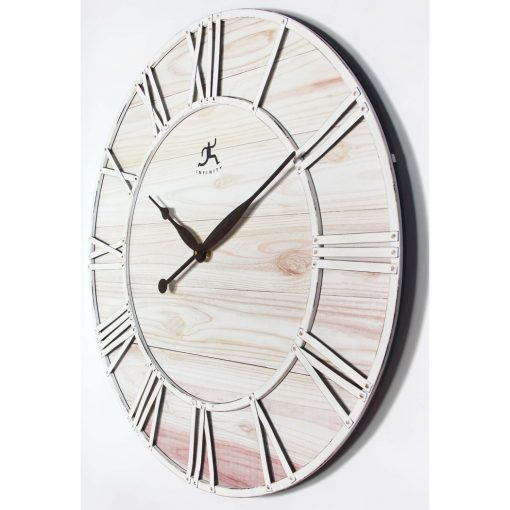 right side view of farmhouse fusion wall clock