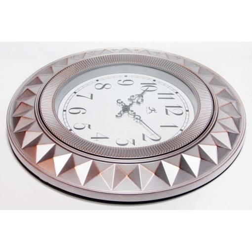 right side of elegance silver pink wall clock medium small