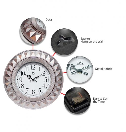 features of elegance wall clock medium small