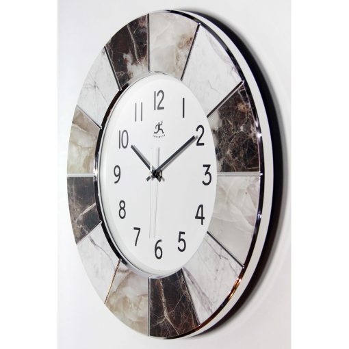 right side view of large office cool modern wall clock 16 inch designer