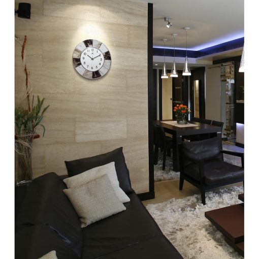 modern marble environmental office wall clock 16 inch cool
