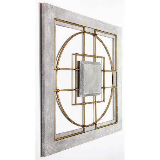 square matrix large wall decor left view
