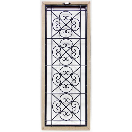 wrought iron antique garden gate wall decor back view