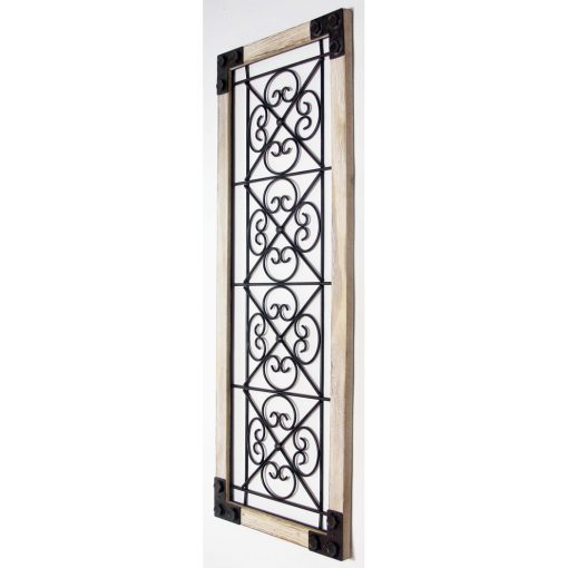 right view antique garden gate tall rectangle wall decor