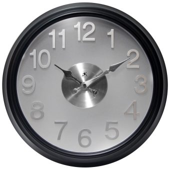 silver modern clock