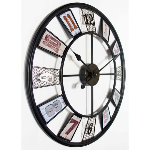 left side view of large wall clock kaleidoscope