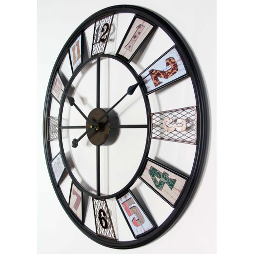 right side view kaleidoscope large wall clock