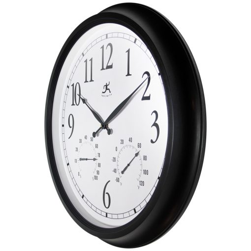 right side view of indoor outdoor large wall clock