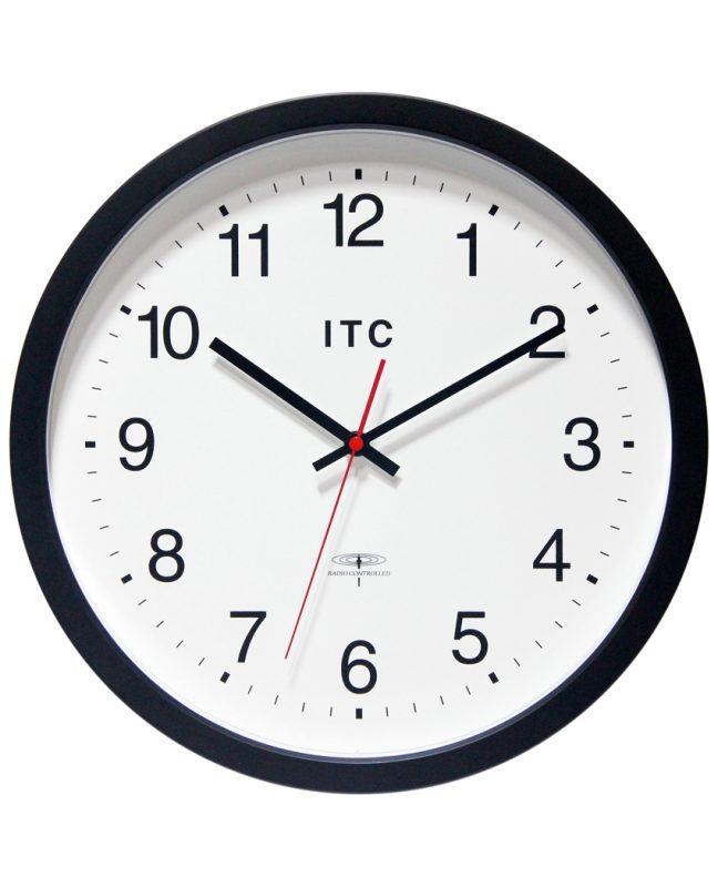 simple office clock black wall